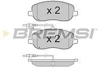 Колодки тормозные передние на Джампи Скудо Эксперт (Jumpy Scudo Expert ), BREMSI BP3028