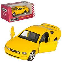 KMKT5091 W HU Машинка жел KINSMART KT 5091 W  инер-я, 1:38 FORD MUSTANG GT 2006, в кор-ке