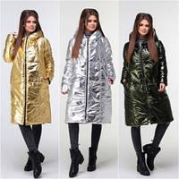 Пальто  двухстороннее 315 3/серебро, фото 1