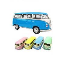 "KMKT5060WY Модель автобус 5""  Classical Bus (Pastel Color) метал.инерц.откр.дв.кор./96/"