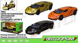 """KM7861 Машина металл   """"АВТОПРОМ"""",Lamborghini  LP770-4, батар.,свет,звук,откр.двери,капот., в"""