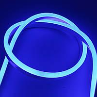 Светодиодный гибкий неон синий 3528 120 led/m 8w 12v влагозащищенная