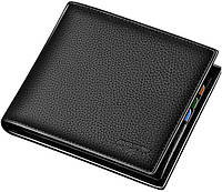 0b88fbb49e96 Мужской кошелек (портмоне) из натуральной кожи Bopai 715-006492, черный