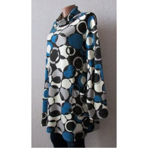 Платье туника ангорка Инга, большой размер