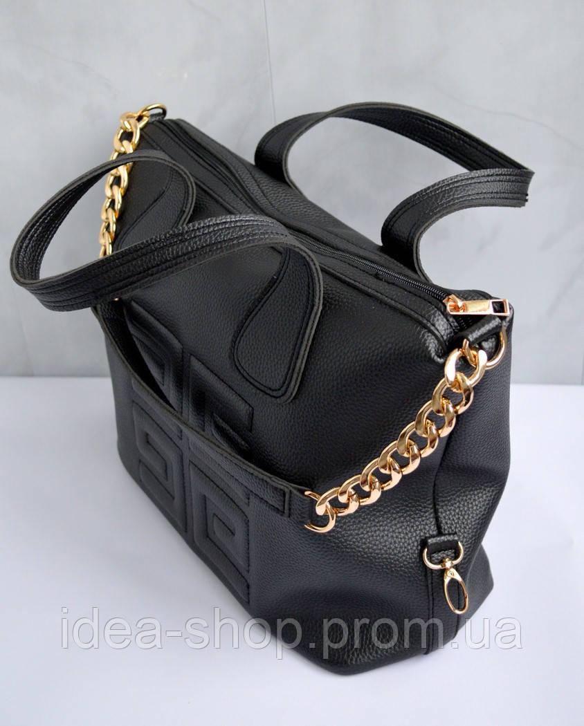 68ce167a8554 Сумка женская модная большая черная. хит продаж года. экокожа высокого  качества, цена 650 грн., купить в Харькове — Prom.ua (ID#847939122)