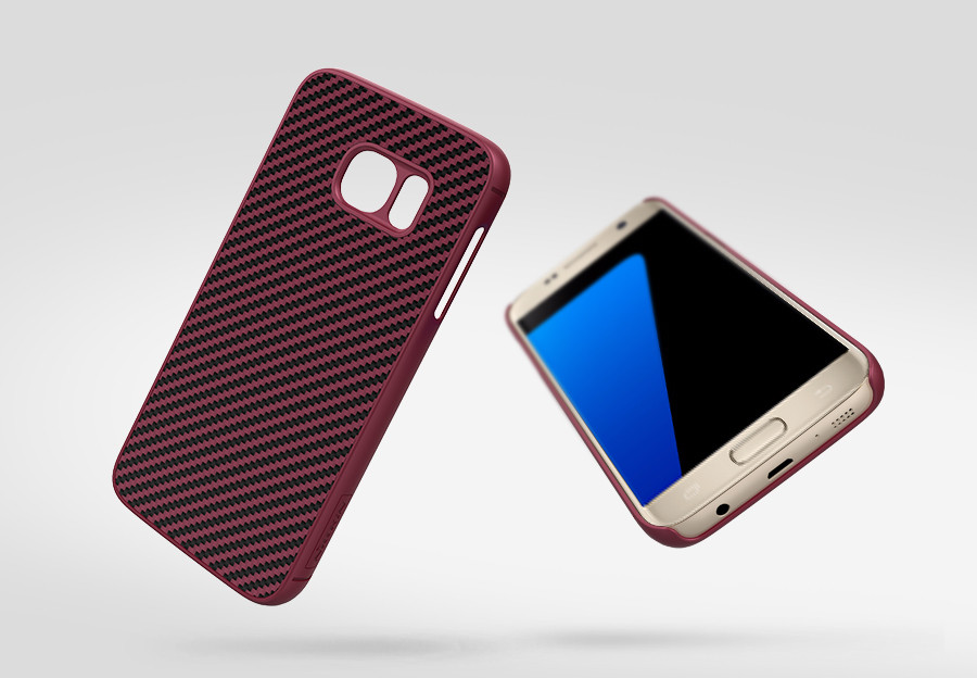 Карбоновая накладка Nillkin Synthetic Fiber series для Samsung G930F Galaxy S7