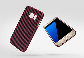 Карбоновая накладка Nillkin Synthetic Fiber series для Samsung G930F Galaxy S7, фото 2
