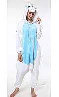 Пижама кигуруми kigurumi костюм Единорог белый с голубым животом L рост  165-175 88dcd0aba9321