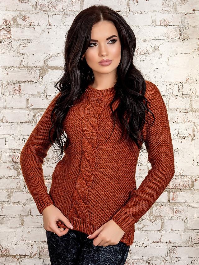 Фото Вязаного женского свитера Мия-1