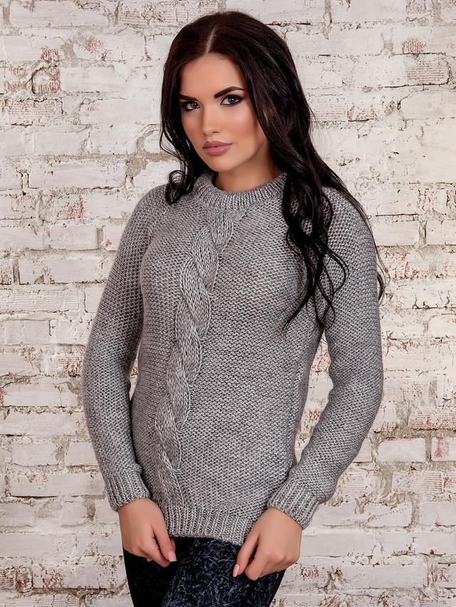 Фото Вязаного женского свитера Мия-4