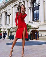 Изумительное облегающее платье  с вырезом на спине и спереди, фото 1