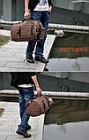 Рюкзак-сумка Youmian 45*28*28 коричневий, фото 8
