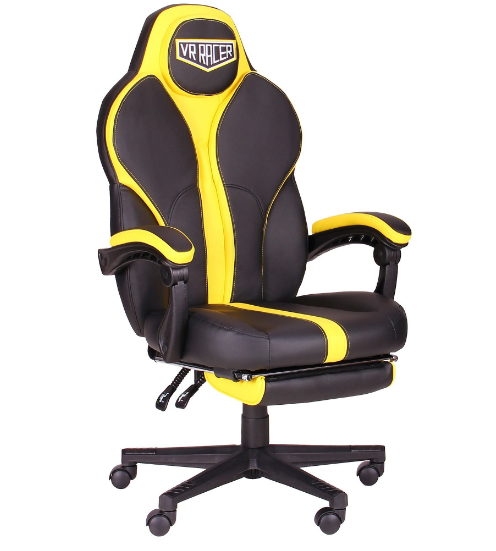 Геймерское кресло VR Racer Edge Throne черный/желтый