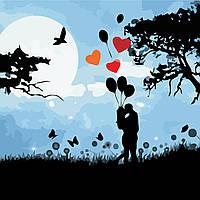 Художественный творческий набор, картина по номерам Ночное свидание, 40x40 см, «Art Story» (AS0511), фото 1