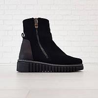 Ботинки с мехом черные (О-855), фото 1
