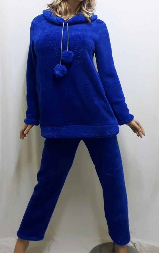 Пижама женская, подростковая теплая махровая для дома и сна с длинными брюками, размер от 40 до 48, Харьков
