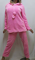 Пижама женская, подростковая теплая махровая для дома и сна с длинными брюками, размер от 40 до 48, Харьков, фото 2