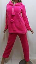 Пижама женская, подростковая теплая махровая для дома и сна с длинными брюками, размер от 40 до 48, Харьков, фото 3
