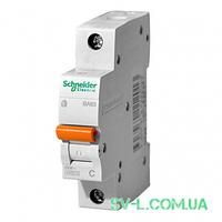 Автоматический выключатель 6А 4,5кА 1 полюс тип C 11201 Домовой ВА63 Schneider Electric