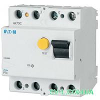 УЗО 25A 30mA 4,5kA тип AC 4 полюса PF4-25/4/003 Eaton (Moeller)