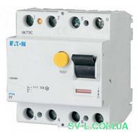 УЗО 40A 30mA 4,5kA тип AC 4 полюса PF4-40/4/003 Eaton (Moeller)