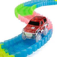 Детский конструктор Magic Tracks (Меджик Трэкс) 360 деталей / Гоночная трасса с двумя машинками
