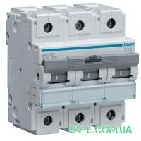 Автоматический выключатель 125A 10кА 3 полюса тип C HLF399S Hager