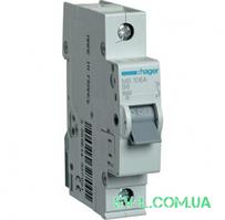 Автоматический выключатель 6A 6кА 1 полюс тип B MB106A Hager