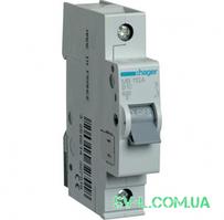 Автоматический выключатель 10A 6кА 1 полюс тип B MB110A Hager
