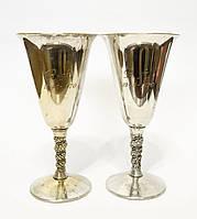 Два старых посеребренных бокала, серебрение, Испания,1970 года, фото 1