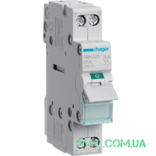 Выключатель нагрузки 2 полюса 25А 230V 1м SBN225 Hager