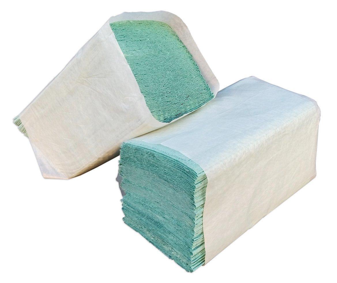 Бумажные полотенца зелёные V – образного сложения для диспенсеров (Green ix)