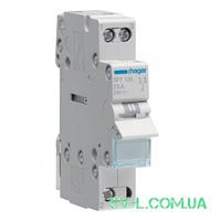 Переключатель ввода резерва I-0-II с общим выводом сверху 1 полюс 25А 230V 1м SFT125 Hager