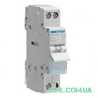 Переключатель ввода резерва I-0-II с общим выводом снизу 1 полюс 25А 230V 1м SFB125 Hager