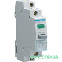 Кнопка управления возвратная с индикатором 1НО 16A 230V SVN411 Hager
