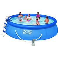 Семейный наливной бассейн Intex 28168 с фильтр-насосом и лестницей