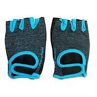 Защитные перчатки для активного отдыха (велосипед, самокат) Размер M - Перчатки Airwheel голубые