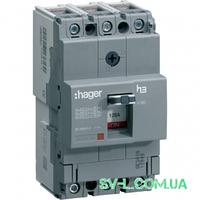 Силовой автоматический выключатель 100А 18kA 3 полюса HDA100L x160 Hager