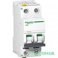Автоматический выключатель 2A 6kA 2 полюса тип C A9F74202 Acti9 iC60N Schneider Electric