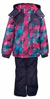 Комплект зимний (куртка + полукомбинезон) для девочки GWG, Gusti Boutique, розовый