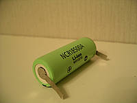 Аккумулятор Panasonic NCR18500A 2040 mAh с выводами под пайку, U-tags