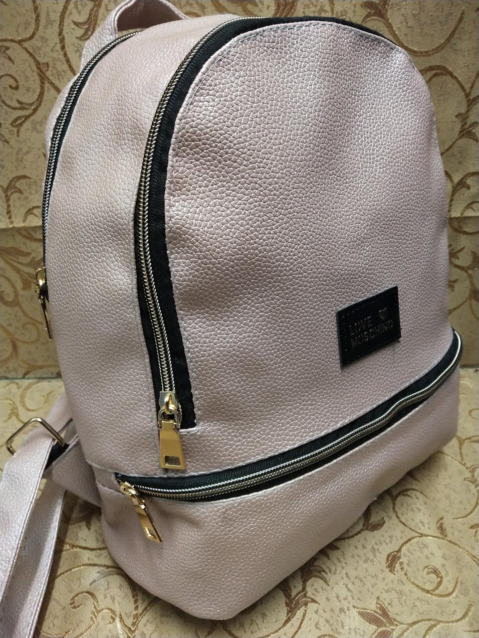 (32*27)Женский рюкзак искусств кожа love moschino качество городской стильный Популярный только опт