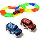 Детский конструктор Magic Tracks (Меджик Трэкс) 360 деталей / Гоночная трасса с двумя машинками, фото 2