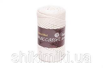 Трикотажный хлопковый шнур 3 мм,цвет молочный