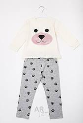 Детская пижамка собачка (молочно-розовая)