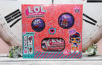 Подарочный набор в коробке LOL 3 шт , капсула большая + шар 10 см 2 шт размер коробки 25*25*10