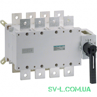 Переключатель поворотный I-0-II с универсальным общим выводом 4 полюса 400V 630А Hager HI458