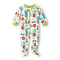 Детский флисовый человечек (слип) 3-6,  9-12 месяцев