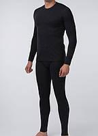 Комплект мужского термобелья полушерстяной цвет черный, фото 1