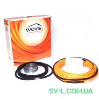 Кабель нагревательный двухжильный Woks-10 1140W 115м